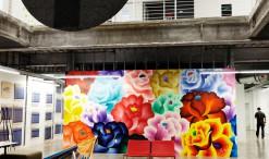 Mural by Jet Martinez, Facebook Headquarters, Menlo Park, Calif, Nov. 11, 2014.